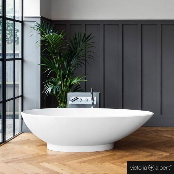Victoria + Albert Napoli freistehende Badewanne 190 x 85,5 cm weiß glanz