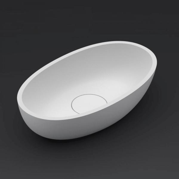 Riho Escala Aufsatz-Waschtisch oval 55 x 32 cm aus Solid Surface