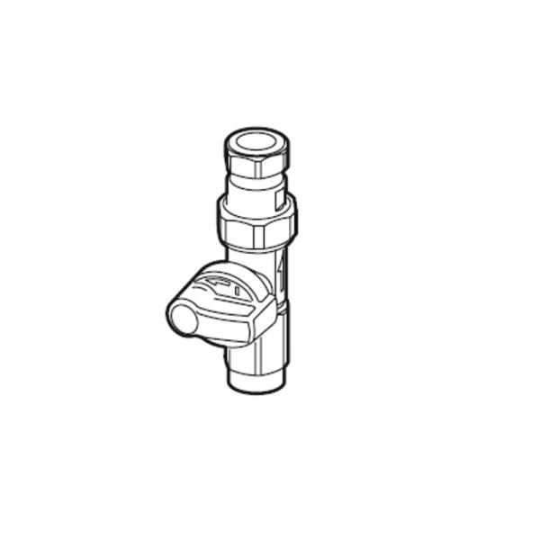 Weishaupt Gas-Durchgangshahn Rp 1/2 I x 18 mm