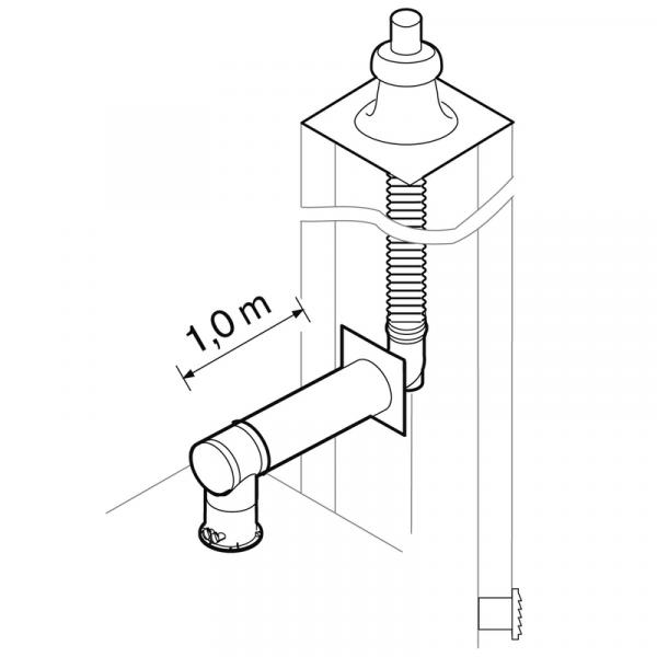 Weishaupt Abgassystem DN100/60 raumluftunabhängig 12,5 m flexibel