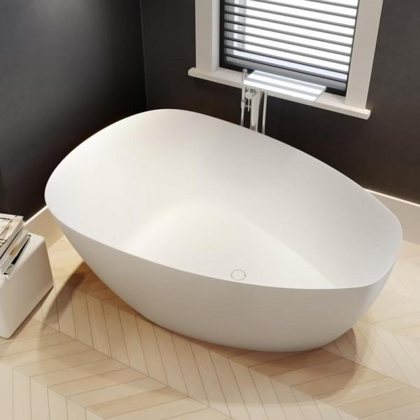Riho Toledo freistehende Badewanne 158 x 110 x 62 cm weiss seidenmatt
