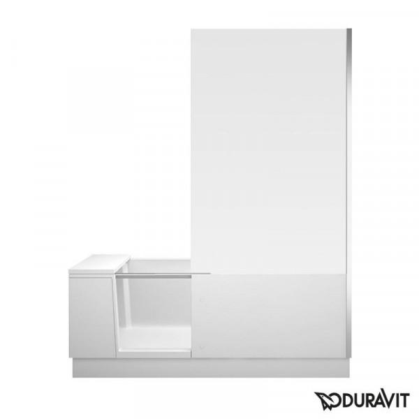 Duravit Shower + Bath Badewannne mit Duschzone, 170x75 cm rechts, weiß verspiegelt