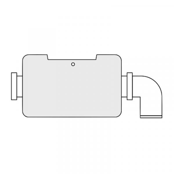 Weishaupt Flansch für Luftkanal zur Fremdluft- ansaugung mit zusätzlichem LGW WL/WG5