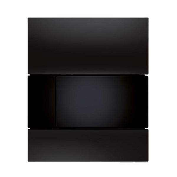 TECE square Glas Urinal-Betätigungsplatte inkl. Kartusche schwarz
