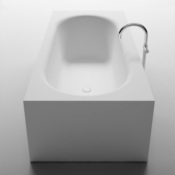 Riho Madrid freistehende Badewanne 180 x 86 x 45 cm weiss seidenmatt