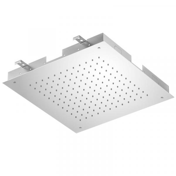 Treos Regenpaneel für Deckeneinbau chrom 500 x 500 mm
