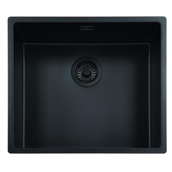 Reginox New York 50x40 OKG Jet Black Küchenspüle schwarz