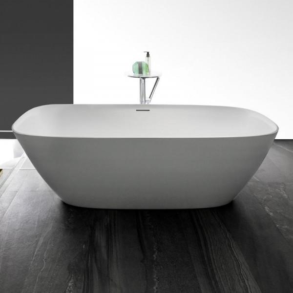 Laufen INO Freistehende Oval Badewanne 170 x 75 cm aus Mineralgusswerkstoff weiss