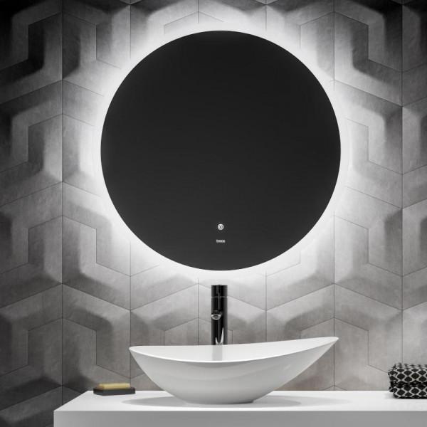 Treos Serie 605 Wandspiegel mit LED-Beleuchtung Ambi-Light Ø 60 cm