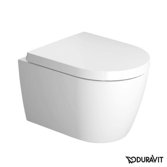 Duravit ME by Starck Wand-Tiefspül-WC Compact Set, rimless mit WC-Sitz