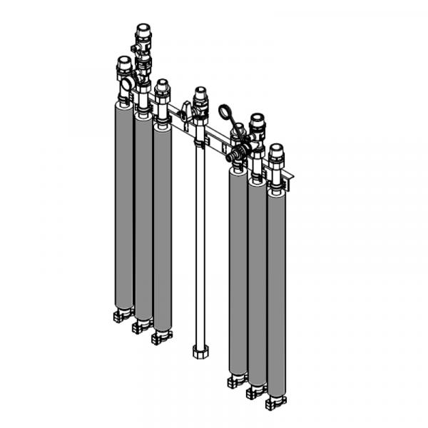 Viessmann Anschluss-Set für Aufputzinstallation nach oben Vitodens 343-F