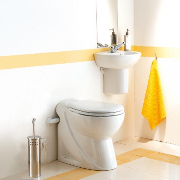 SFA-SaniCompact Pro Stand-WC mit Hebeanlage