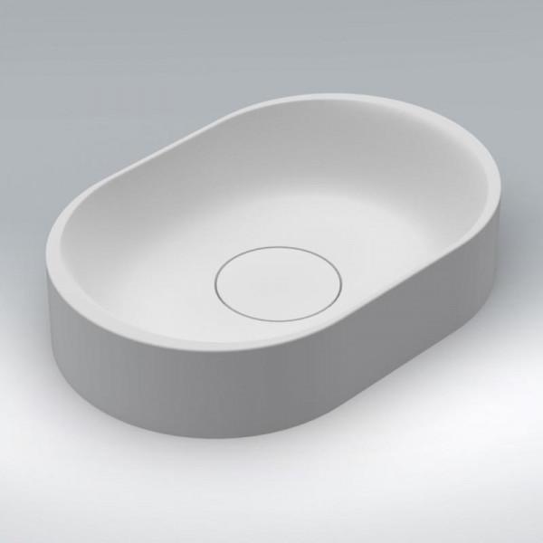 Riho Valor Aufsatz-Waschtisch oval 48 x 32 cm aus Solid Surface
