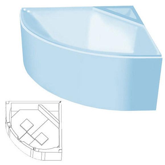 poresta systems Poresta Compact Wannenträger Riho Neo ohne Ablage