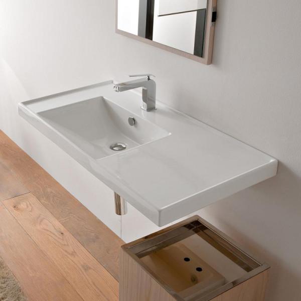 Scarabeo ML Einbau- oder Hängewaschbecken weiss 92 x 47 cm