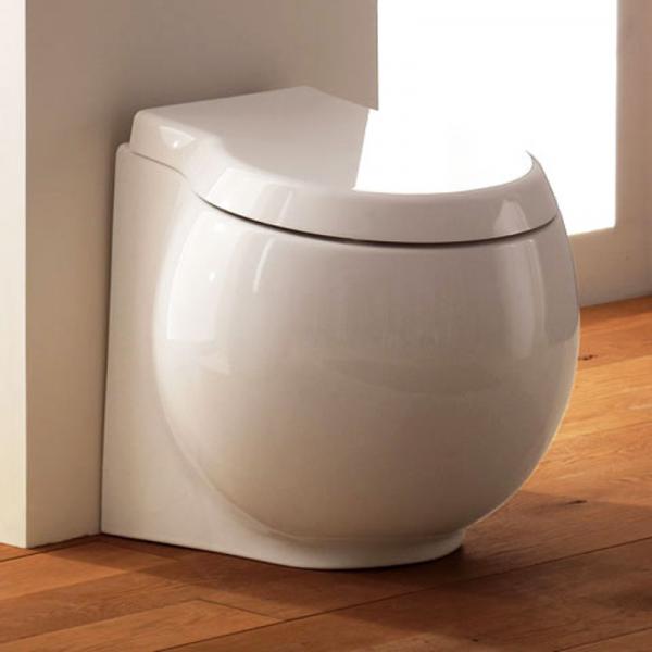 Scarabeo Planet Stand-Tiefspül-WC weiß 50 x 45 cm