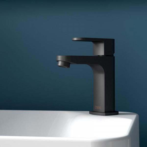 Treos Serie 173 Einhebel-Waschtischarmatur ohne Ablaufgarnitur, schwarz matt