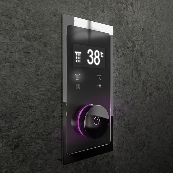 Steinberg iFlow vollelektronische Armatur mit Digitalanzeige für 4 Verbraucher schwarz/chrom