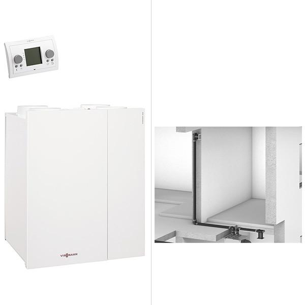 Viessmann Paket Vitovent 300-W Flachkanal 250 qm Wohnfläche