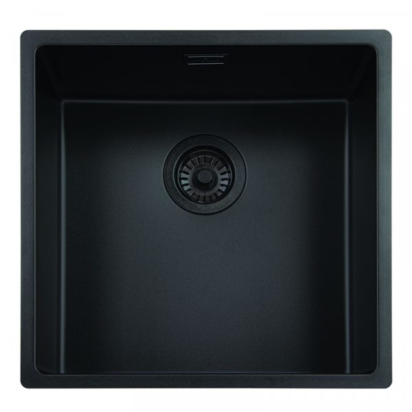 Reginox New York 40x40 OKG Jet Black Küchenspüle schwarz