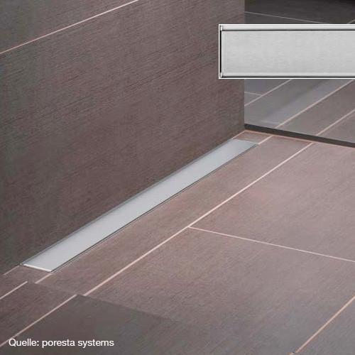poresta systems Rost für Ablaufrinne Design E L: 77 B: 8 H: 1,2 cm