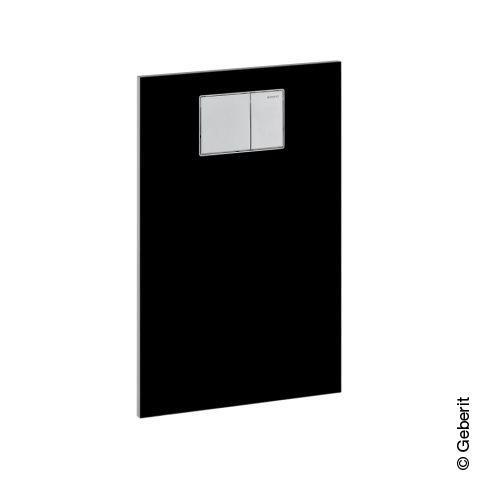 Geberit AquaClean Designplatte aus Glas für Aufsätze an Geberit UP-Spülkasten schwarz