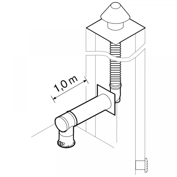 Weishaupt Abgassystem DN100/60 raumluftunabhängig 12,5 m flexibel, INOX
