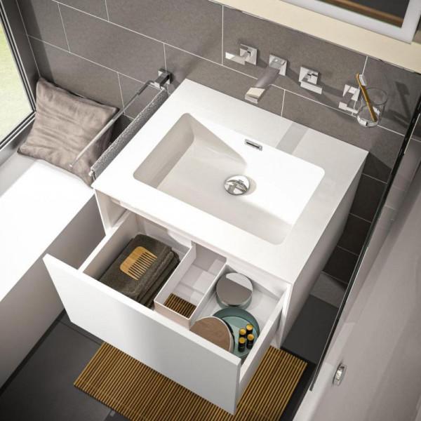 Treos Serie 905 Waschtisch mit Waschtischunterschrank mit 1 Auszug