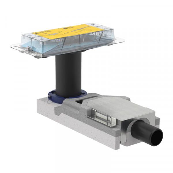 Geberit CleanLine Duschrinnen Rohbauset für Fußbodenaufbauhöhe ab 65 mm