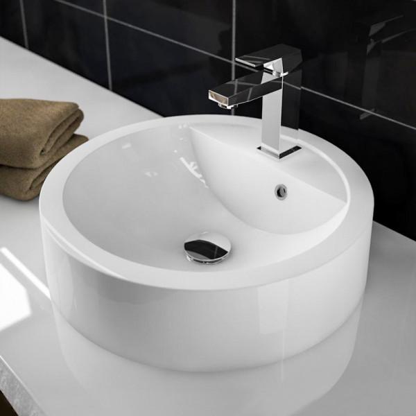 Treos Serie 710 Mineralguss Aufsatz Waschbecken ∅ 430 mm