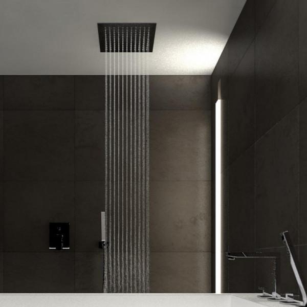 Treos Regenpaneel für Deckeneinbau schwarz matt 340 x 340 mm