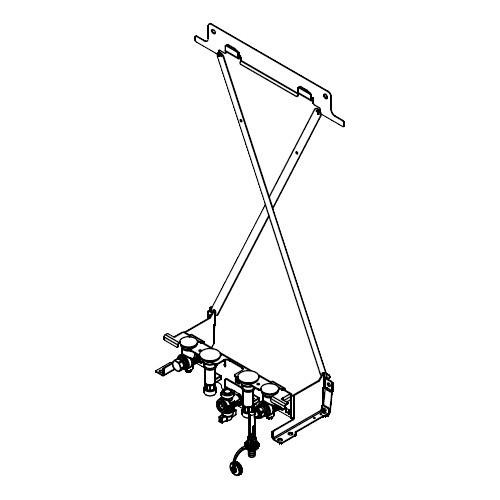 Viessmann Montagehilfe Vitodens 200-W Umlauf für Aufputz-Montage