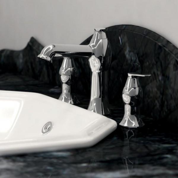 Treos Serie 199 3-Loch-Waschtischarmatur mit Ablaufgarnitur