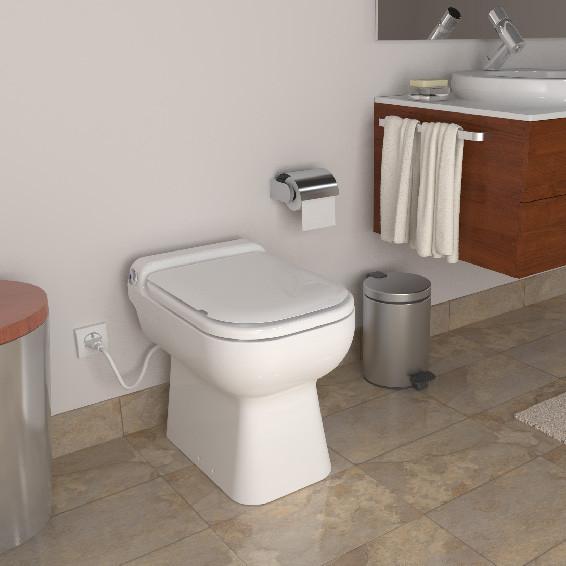 SFA Sanicompact Luxe WC mit integrierter Hebeanlage beige