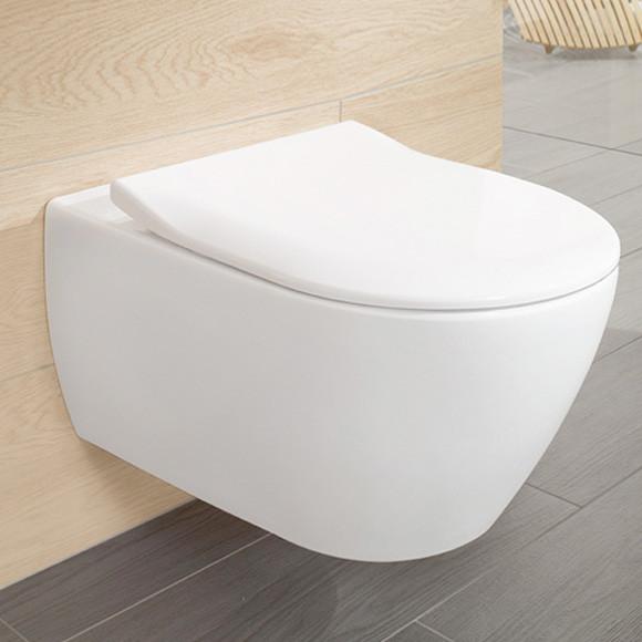 Villeroy & Boch Subway 2.0 Combi-Pack Wand-Tiefspül-WC, offener Spülrand, mit WC-Sitz weiß, mit Cera