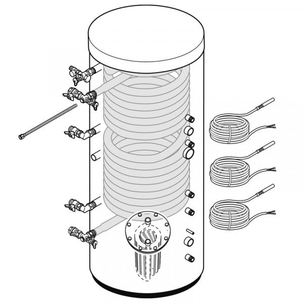 Weishaupt Paket WES 910 Combi/Eco Energiespeicher für WTC-OB / WTC45/60