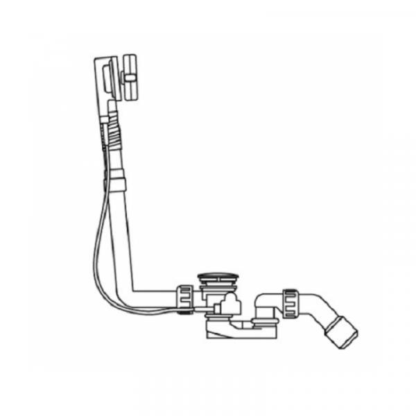 Artweger Ablaufgarnitur Länge 54 cm mit integriertem Einlauf