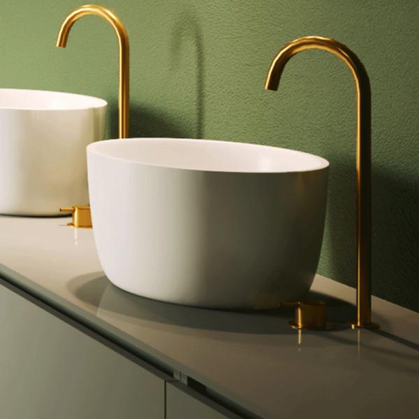 Riho Aufsatzwaschtisch Oval Solid Surface Durchmesser 38 cm