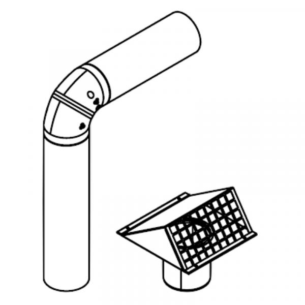 Viessmann Kompakte Außen-/Fortluftführung DN160