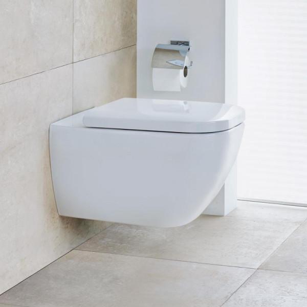 Duravit Happy D.2 Wand-Tiefspül-WC mit WC-Sitz, ohne Spülrand weiß